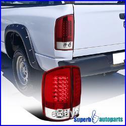 2002-2006 Dodge Ram 1500 2500 3500 LED Tail Lights Brake Lamp Red