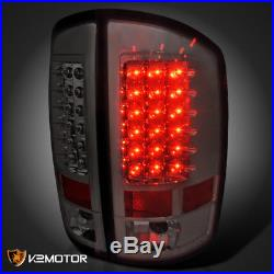 2002-2006 Dodge Ram 1500 2500 3500 LED Tail Lights Lamps Smoke Left+Right