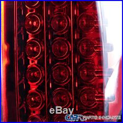2002-2006 Dodge Ram 1500 2500 3500 Pickup Red Clear LED Tail Lights Rear Lamps