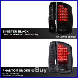 2002-2006 Dodge Ram 1500 2500 3500 SINISTER BLACK LED Rear Brake Taillight LED