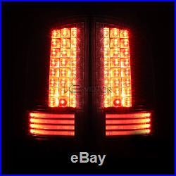 2002-2006 Dodge Ram 1500/2500/3500 Smoke LED Rear Brake Tail Lights Left+Right