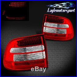 2003 2004 2005 2006 Porsche Cayenne LED Red Tail Lights Rear Lamps Pair