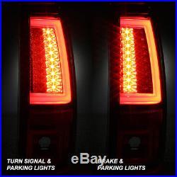 2003 2004 2005 2006 Silverado Sierra LED Tube Red Tail Lights+LED 3rd Brake Lamp