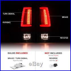 2003-2006 Chevy Silverado 1500 2500 3500HD OLED NEON TUBE Black LED Tail Lights