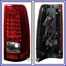 2003-2006 Chevy Silverado 1500 2500 3500 GMC Sierra LED Strip Tail Lights Lamps