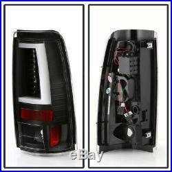 2003-2006 Chevy Silverado 1500 2500 Black Edition LED Tube Tail Lights Lamps