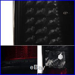 2003-2006 Chevy Silverado 2004 2005 2006 GMC Sierra Black Smoked LED Tail Lights