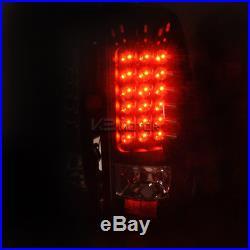2003-2006 Chevy Silverado Black Headlights+Bumper Lamps+LED Tail Lights