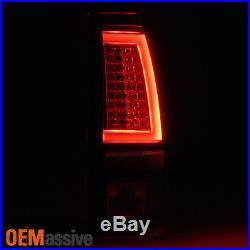 2003-2006 Chevy Silverado GMC Sierra 1500 2500HD 3500 Black LED Tube Tail Lights