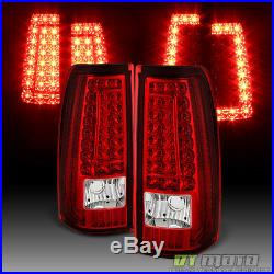 2003-2006 Chevy Silverado Sierra LED C Shape Tail Lights Lamps 03 04 05 06