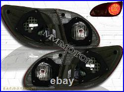 2003-2008 Toyota Corolla Red Clear LED Tail Lights 03 04 05 06 07 08