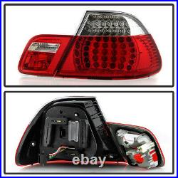 2004-2006 BMW E46 325Ci 330Ci M3 2Dr Coupe Red Clear LED Tail Lights Brake Lamps