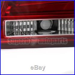 2004-2007 BMW E60 5-Series 525i/530i 4DR Red Lens Tail Brake Lights with LED Bar