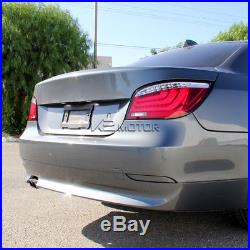 2004-2007 BMW E60 5-Series 525i/530i Red LED Light Bar Tail Brake Lamps Pair