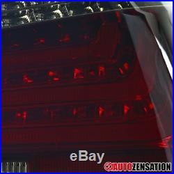 2004-2007 BMW E60 5-Series Chorme Red Smoke Lens LED Tail Lights Brake Lamps