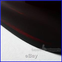 2004-2007 BMW E60 5-Series LED Chrome Housing Red Smoke Lens Tail Lights