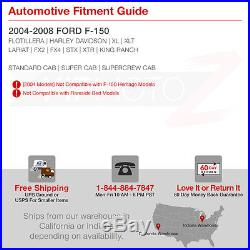 2004-2008 Ford F150 Lobo MURDER OUT Black Red LED SMD Rear Brake Tail Lights