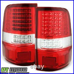 2004-2008 Ford F150 Red Clear Full LED Tail Lights Brake Lamps 04-08 Left+Right