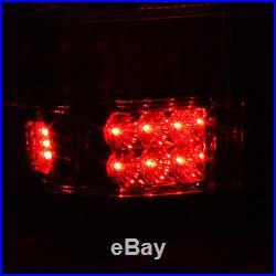 2004-2008 Ford F-150 F150 Pickup Smoked LED Tail Lights + 3Rd Brake Light Lamp