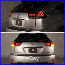 2004-2009 Lexus RX350 RX330 SINISTER BLACK LED Tube Amber Signal Tail Lights