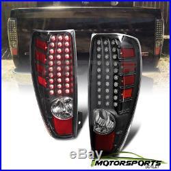 2004-2012 Chevy Colorado/GMC Canyon Pickup Truck Black LED Brake Tail Lights Set
