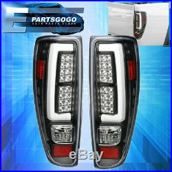 2004-2012 Colorado Canyon Tube Led Tail Lights Black Housing Clear Lens Lamps