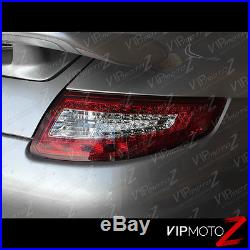 2005-08 Porsche 997 RED/CLEAR LED Tail Lights Pair Left+Right Brake Signal Lamps