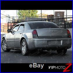 2005-2006-2007 Chrysler 300C DARKEST SMOKE LED Rear Tail Lights Brake Lamp SET