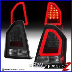 2005-2007 Chrysler 300C 6.1L TRON STYLE Phantom Smoke LED Tail Lights Lamp SET