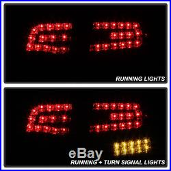 2005-2008 Audi A4/S4 B7 4Dr Sedan Red LED Tail Lights Brake Lamps Set Left+Right