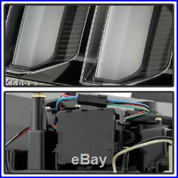 2005-2009 Ford Mustang Black LED Tube Sequential Signal Tail Lights Brake Lamps