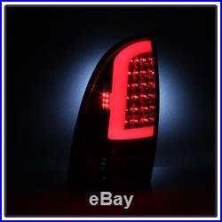 2005-2015 Toyota Tacoma Pickup Truck Red LED Tube Tail Lights Brake Lamps 05-15