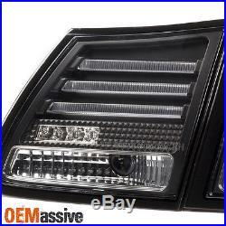 2006-2011 Lexus GS300 GS350 GS430 GS450h Replacement Black LED Tail Lights Pair