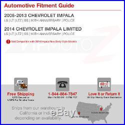 2006-2013 Chevy Impala SS NEWEST FIBER OPTIC LED Black Tail Lights Brake Lamps