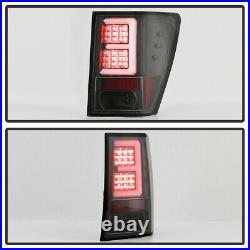 2007 2008 2009 2010 Jeep Grand Cherokee Black LED Tube Tail Lights Brake Lamps
