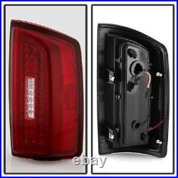 2007-2008 Dodge Ram 1500 2500 3500 Red Clear LED Light Tube Tail Lights Lamps
