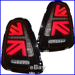 2007-2010 Helix Mini Cooper R56 R57 R58 R59 LED Union Jack Taillights Clear