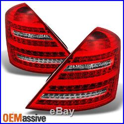 2007-2012 Benz W221 S-Class LED Signal Red Clear Full LED Tail Lights Lamps L+R