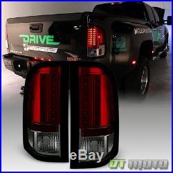2007-2013 Chevy Silverado 1500 2500HD 3500HD Red Smoke Lumileds LED Tail Lights