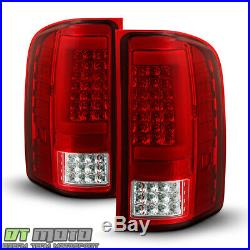2007-2013 Chevy Silverado 1500 2500 Sequentia LED Tube Tail Lights Brake Lamps