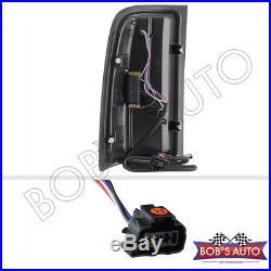 2007-2013 GMC Sierra 1500 2500 3500 New Black Smoke LED Tube Tail Lights PAIR