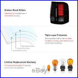 2007-2013 Silverado 2500HD Matte Black Headlamps Tail Lights Light Bar LED Cool