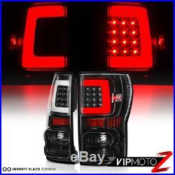 2007-2013 Toyota Tundra NEWEST NEON TUBE Black LED Rear Brake Tail Lights Lamp