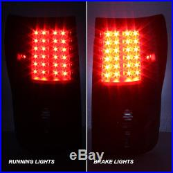 2007-2013 Toyota Tundra Pickup Truck Black LED Tail Lights Lamp Pair Replacement