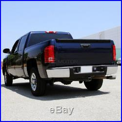 2007-2014 Chevy Silverado 1500 2500 3500 Truck Pickup Red Clear LED Tail Lights
