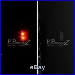 2007-2014 Chevy Suburban Tahoe Yukon SINISTER BLACK LED Rear Tail Lights Lamps