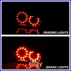 2008-2013 G37 / 14-15 Q60 Coupe Black Factory Style LED Tail Lights Brake Lamps