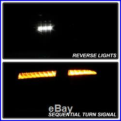 2008-2014 Subaru Impreza WRX Hatchback Black LED Tail Lights withSequential Signal