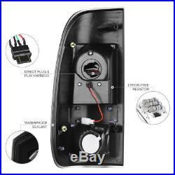2008-2016 Ford F250 F350 F450 SD LED Parking Brake Lamps Black Tail Lights SET