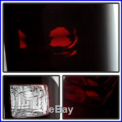 2008-2016 Ford F250 F350 F450 Super Duty Tail Lights +Smoked 3rd LED Brake Lamp